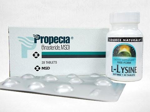 プロペシア28錠2箱+リジン500mg30錠1本 1セット
